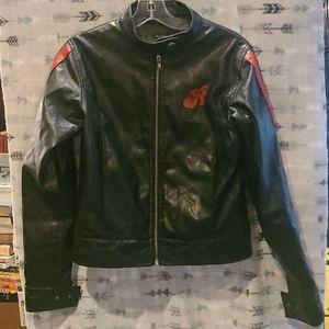 Black biker moto jacket M Miss Ritchie